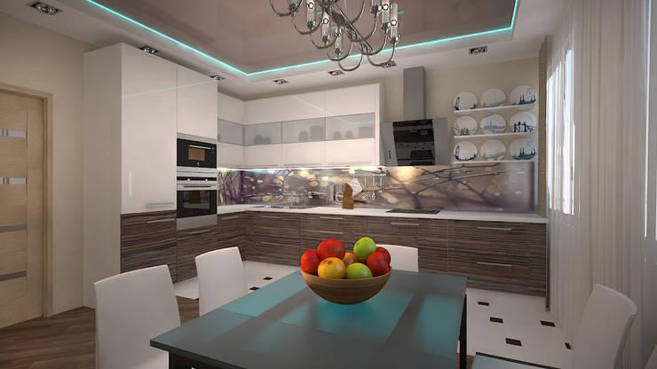 Трех комнатная квартира в Истринском районе: Кухни в . Автор – дизайн-бюро ARTTUNDRA