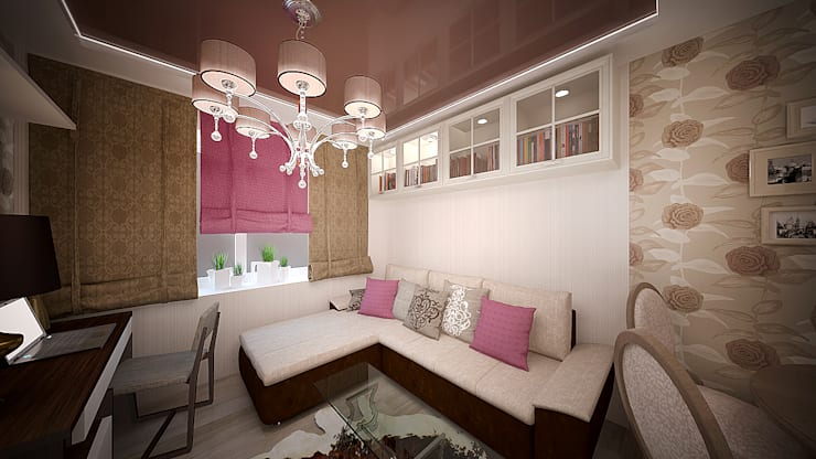 Интерьер однокомнатной квартиры р-он Коммунарка в жк «Эдальго парк»: Гостиная в . Автор – дизайн-бюро ARTTUNDRA