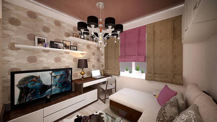 Интерьер однокомнатной квартиры р-он Коммунарка в жк «Эдальго парк»: Гостиная в . Автор – дизайн-бюро ARTTUNDRA,