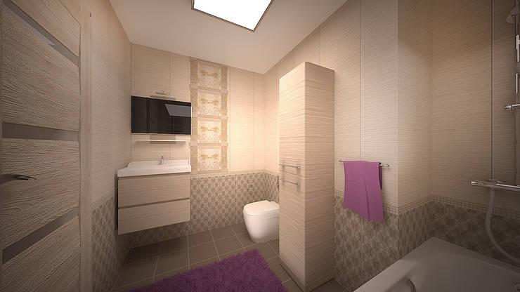 Интерьер однокомнатной квартиры р-он Коммунарка в жк «Эдальго парк»: Ванные комнаты в . Автор – дизайн-бюро ARTTUNDRA
