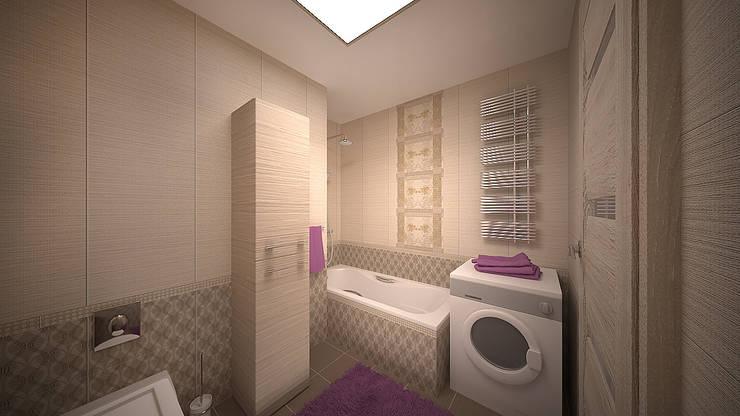 Интерьер однокомнатной квартиры р-он Коммунарка в жк «Эдальго парк»: Ванные комнаты в . Автор – дизайн-бюро ARTTUNDRA,