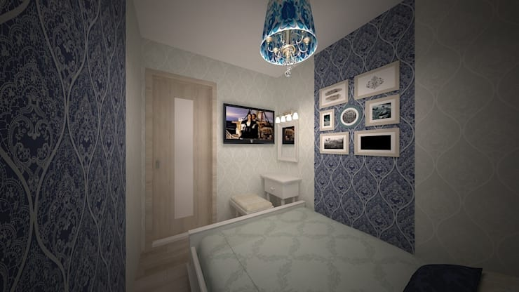 Интерьер однокомнатной квартиры р-он Коммунарка в жк «Эдальго парк»: Спальни в . Автор – дизайн-бюро ARTTUNDRA,