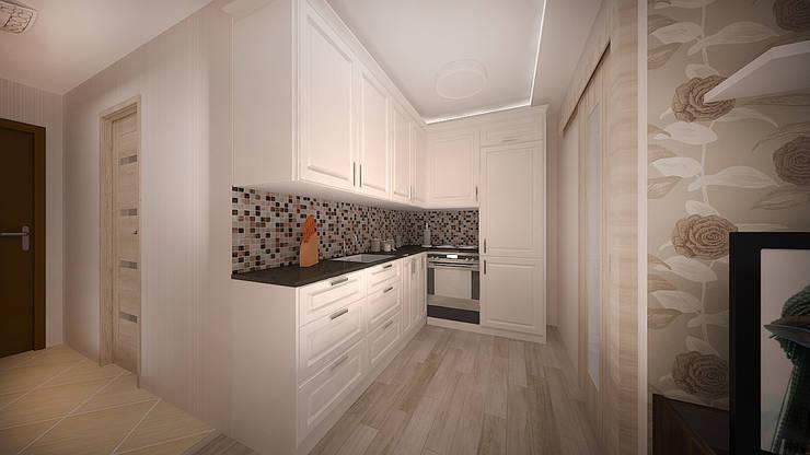 Интерьер однокомнатной квартиры р-он Коммунарка в жк «Эдальго парк»: Кухни в . Автор – дизайн-бюро ARTTUNDRA,