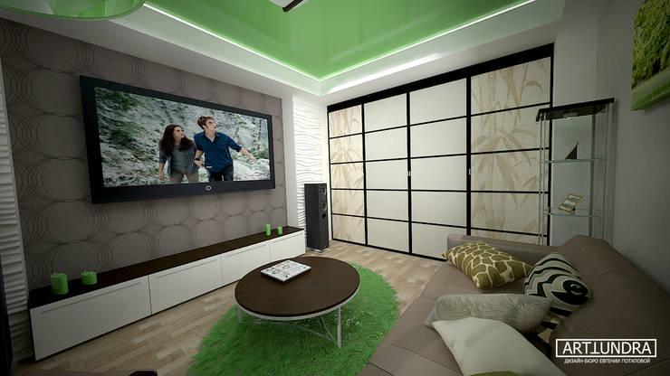 Интерьер 2-комнатной квартиры Новая Москва. Ватутинки: Гостиная в . Автор – дизайн-бюро ARTTUNDRA