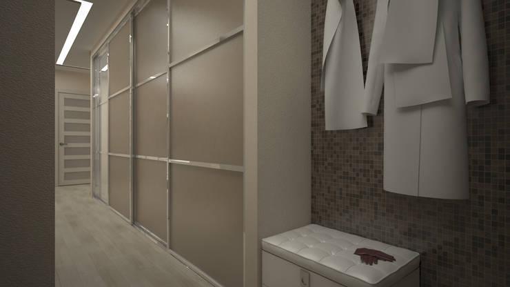 Трех комнатная квартира по ул Осенний бульвар: Коридор и прихожая в . Автор – дизайн-бюро ARTTUNDRA
