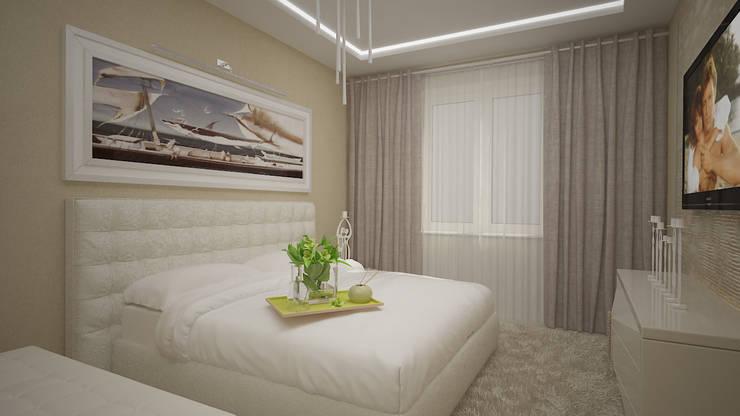 Трех комнатная квартира по ул Осенний бульвар: Спальни в . Автор – дизайн-бюро ARTTUNDRA