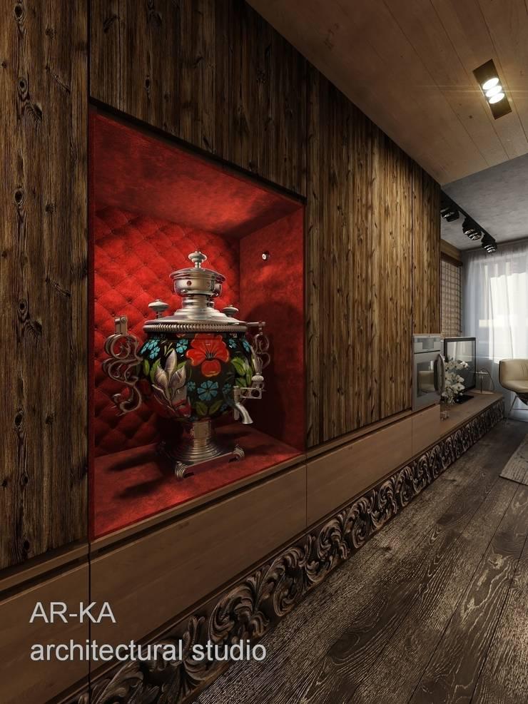 Супер - МИНИ с хорошим вкусом: Коридор и прихожая в . Автор – AR-KA architectural studio