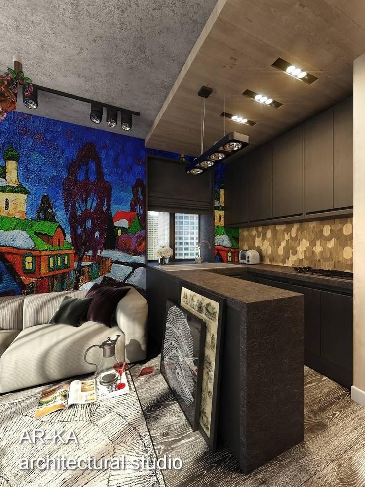 Супер – МИНИ с хорошим вкусом: Кухни в . Автор – AR-KA architectural studio