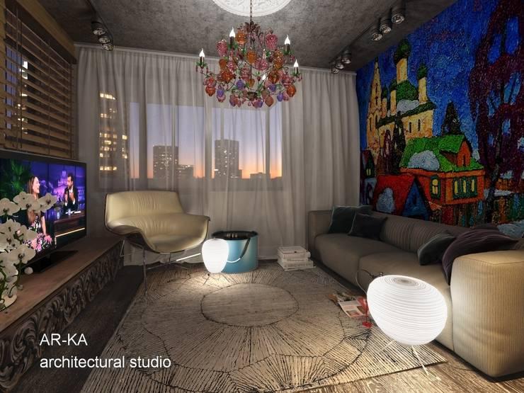 Супер – МИНИ с хорошим вкусом: Спальни в . Автор – AR-KA architectural studio
