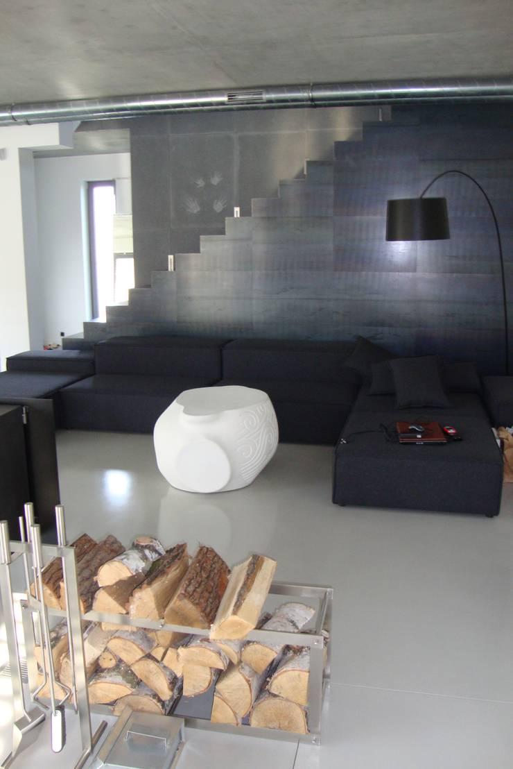 Podłoga betonowa: styl , w kategorii Salon zaprojektowany przez Contractors,Minimalistyczny