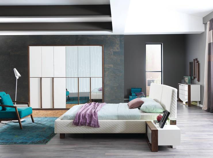 NILL'S FURNITURE DESIGN – Bade Yatak Odası: modern tarz , Modern