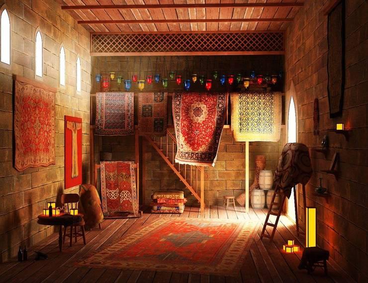 Walls & flooring by Karacahan Carpet Rug