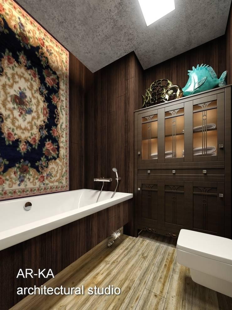 Супер – МИНИ с хорошим вкусом: Ванные комнаты в . Автор – AR-KA architectural studio