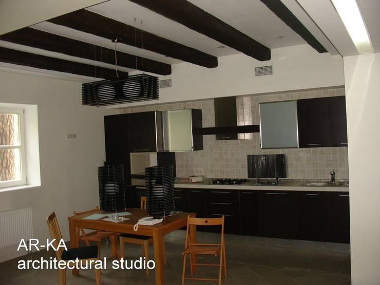 Дом в Малаховке: Кухни в . Автор – AR-KA architectural studio