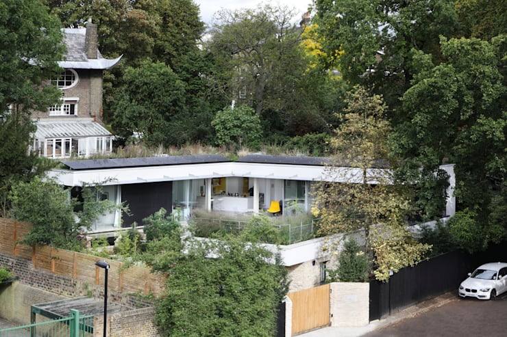 E2 PAVILION ECO HOUSE, BLACKHEATH: modern Houses by E2 Architecture + Interiors