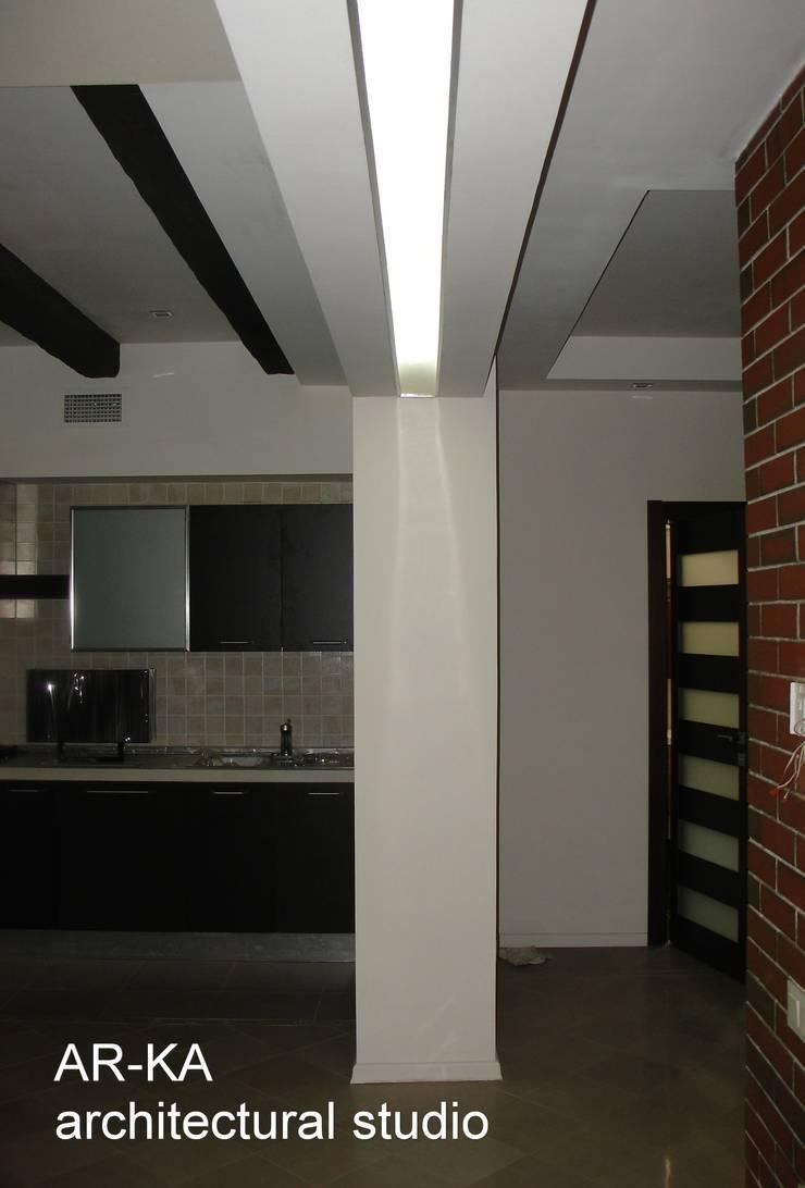 Дом в Малаховке: Кухни в . Автор – AR-KA architectural studio, Модерн