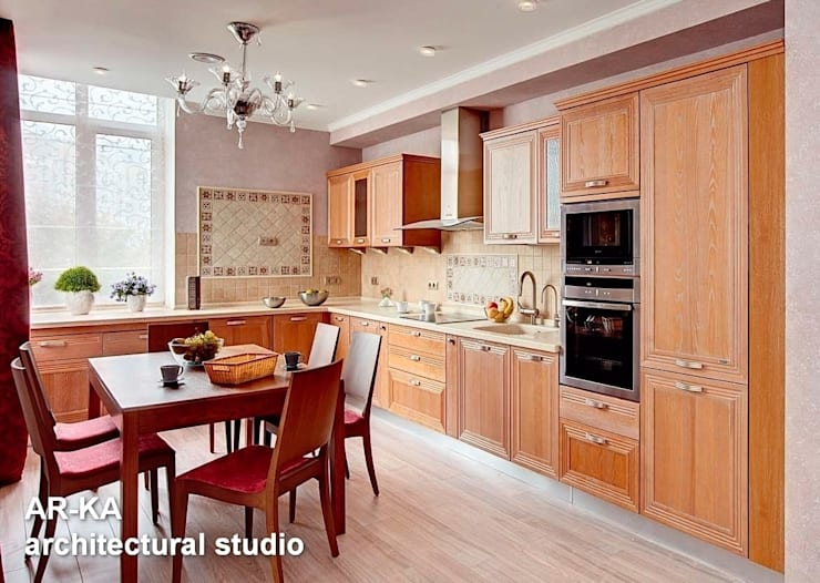 Квартира для подарков: Кухни в . Автор – AR-KA architectural studio