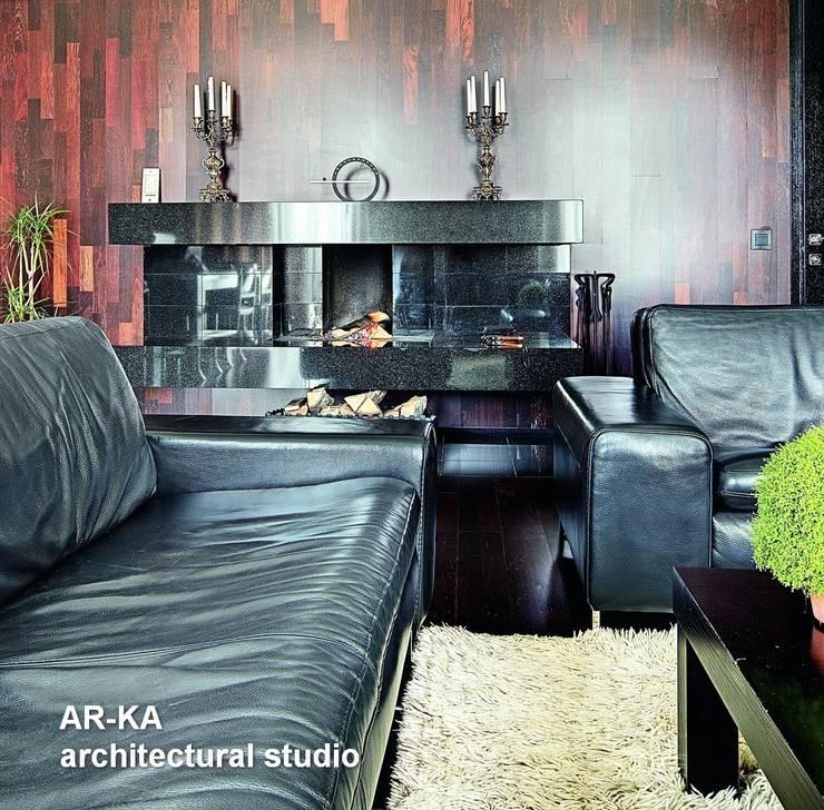 Модернизм в исторической среде: Гостиная в . Автор – AR-KA architectural studio