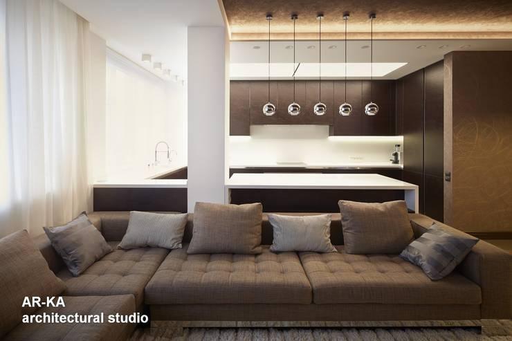 Все сложное - ПРОСТО: Гостиная в . Автор – AR-KA architectural studio