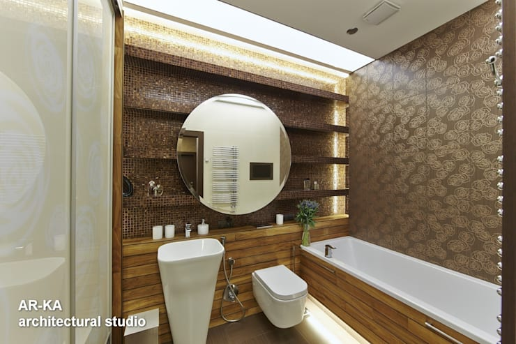 Все сложное - ПРОСТО: Ванные комнаты в . Автор – AR-KA architectural studio