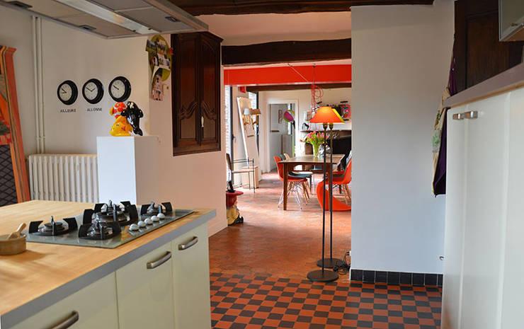 Aménagement Longère : Cuisine de style  par Frédéric  Poisson Architecture&Design