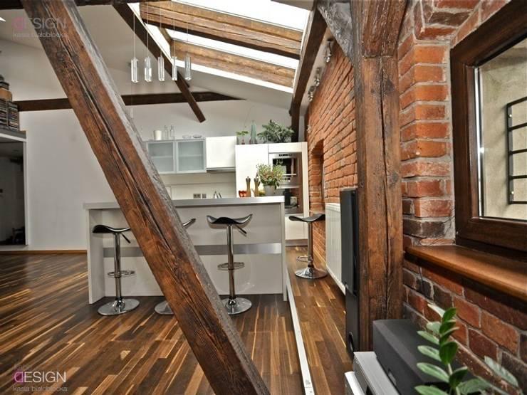 Projekt Gliwice: styl , w kategorii Ściany i podłogi zaprojektowany przez kabeDesign kasia białobłocka