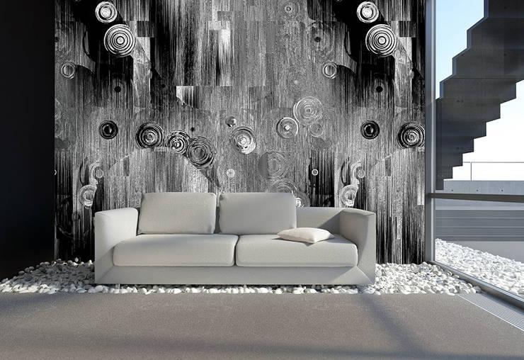 Kreisschwebe grau schwarz:  Kunst  von Mowade