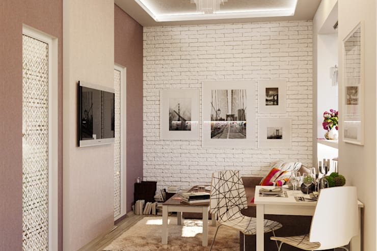 Уютная гостиная в современном стиле: Гостиная в . Автор – Студия дизайна Interior Design IDEAS