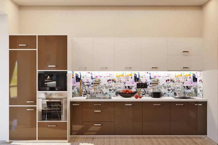Уютная гостиная в современном стиле: Кухни в . Автор – Студия дизайна Interior Design IDEAS