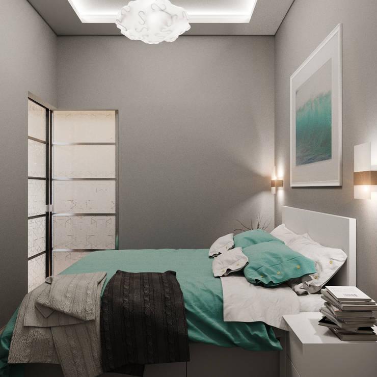 Миниатюрная спальня с максимумом комфорта: Спальни в . Автор – Студия дизайна Interior Design IDEAS