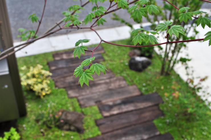 管理のしやすい自然風景を: 新美園が手掛けた庭です。