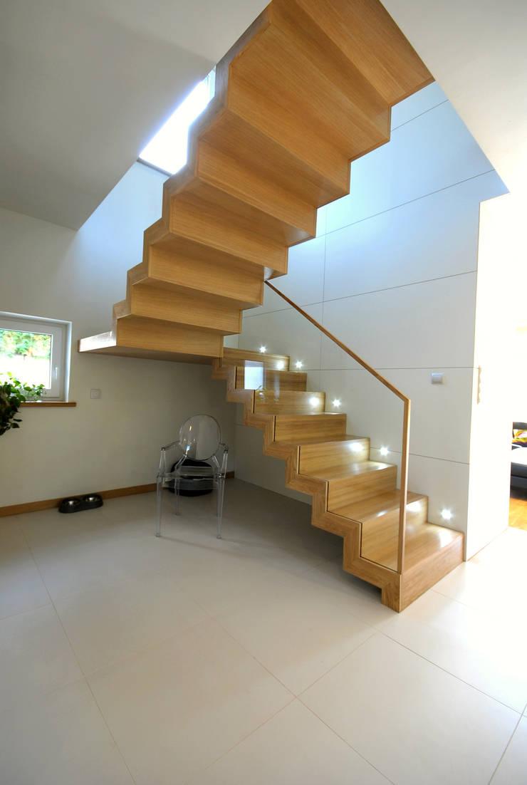 Projekt wnętrza domu w Łodzi 160mkw.: styl , w kategorii Korytarz, przedpokój zaprojektowany przez Piotr Stolarek Projektowanie Wnętrz,