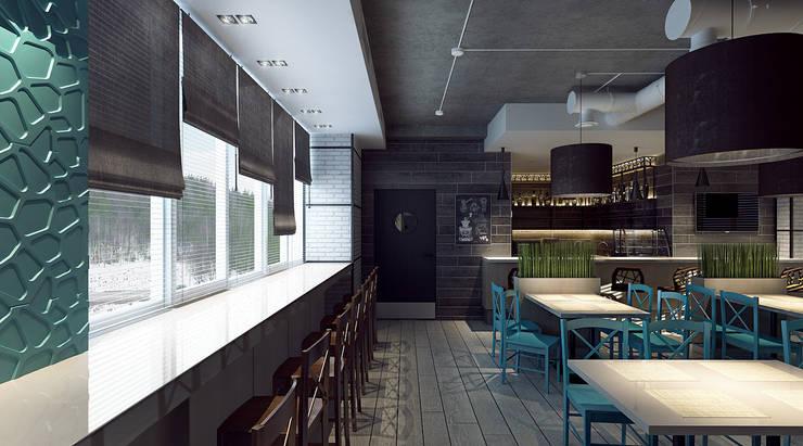 Интерьер обеденного зала: Бары и клубы в . Автор – M5 studio