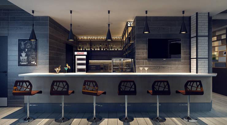 Дизайн барной стойки: Бары и клубы в . Автор – M5 studio