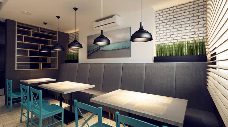 Интерьер малого обеденного зала: Бары и клубы в . Автор – M5 studio
