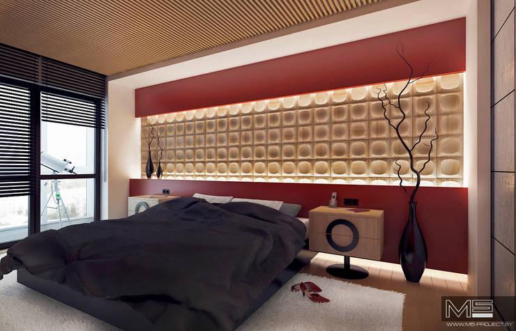 WOOD project: Спальни в . Автор – M5 studio