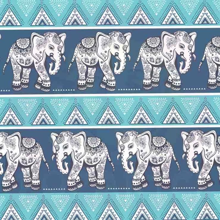EVİMSTİL –  Hint Motifli Döşemelik Dekoratif Kumaşlar K192 :  tarz , Tropikal Tekstil Altın Sarısı