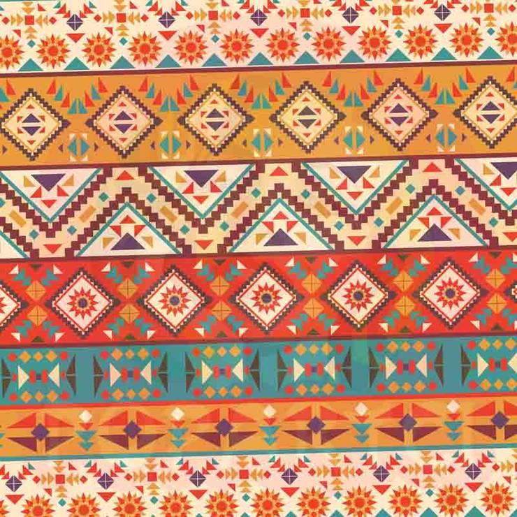 EVİMSTİL – Kilim Desenli Etnik Döşemelik Kumaş:  tarz , Tropikal Tekstil Altın Sarısı