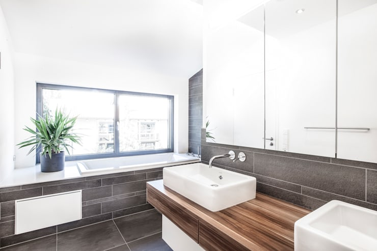 minimalistische Badkamer door 21-arch GmbH