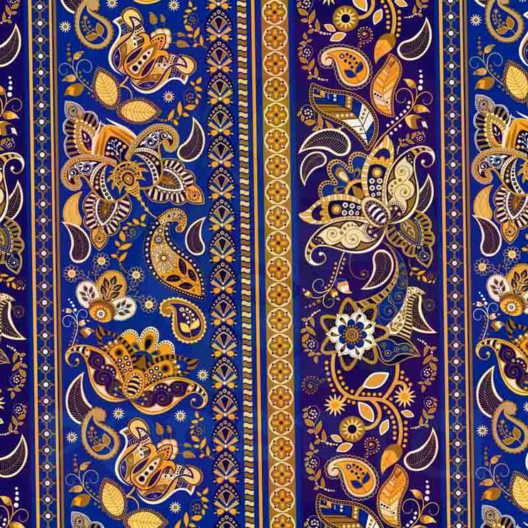 EVİMSTİL – Etnik Döşemelik Kumaş:  tarz , Tropikal Tekstil Altın Sarısı