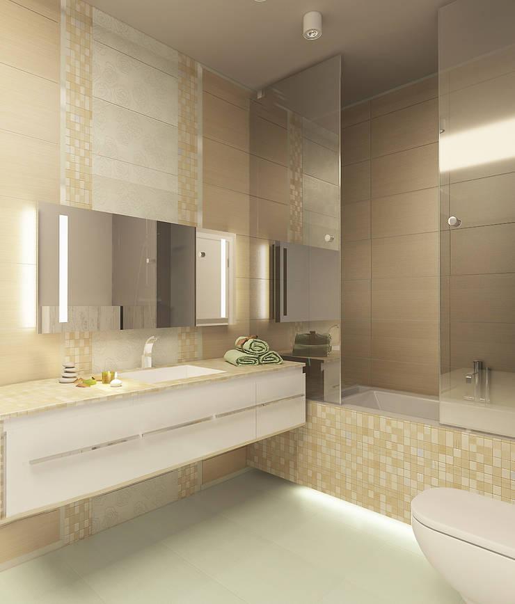 Авеню 77-8: Ванные комнаты в . Автор – ООО 'Студио-ТА'
