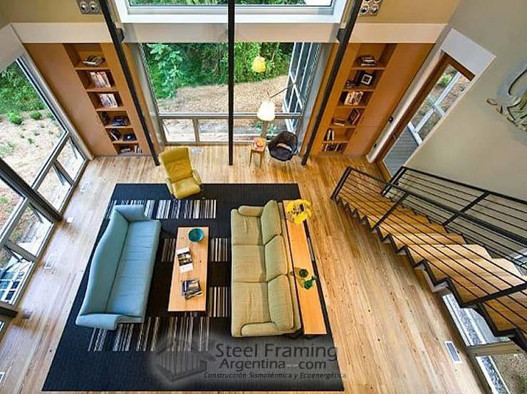 Livings de estilo moderno por Steel Framing Argentina
