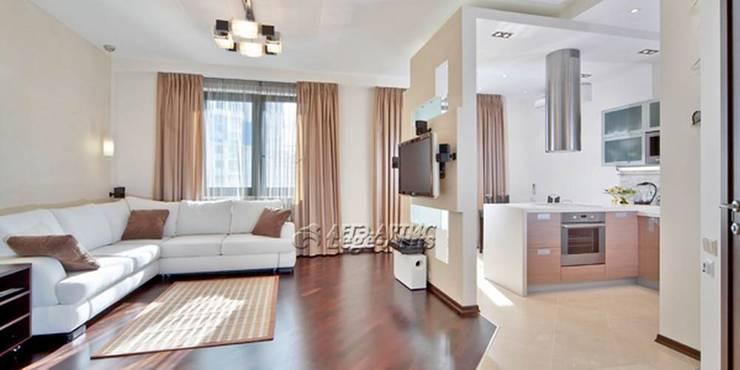 общий вид квартиры-студии:  в . Автор – Архитектурно-дизайнерское бюро Натальи Медведевой 'APRIORI design'