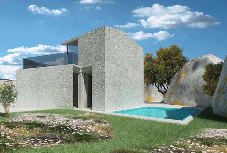 """Progetto Ville esclusive """"La Ficaccia"""" Santa Teresa, OT, Sardegna: Piscina in stile in stile Moderno di giovanni marongiu _ GMAvisual"""