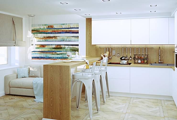 Лофт для молодой семьи: Кухни в . Автор – Кочуров Сергей