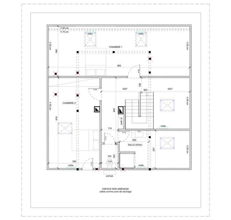 Plan du projet:  de style  par J'ose - Architecte d'intérieur