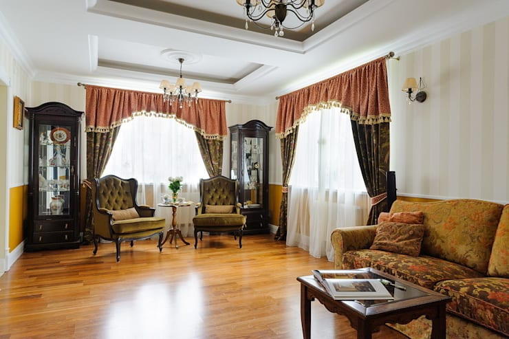 Classic style living room by Angelika Moroz interior design Classic