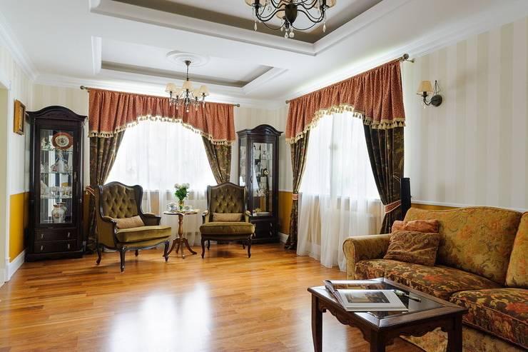 Частный дом Минская обл.: Гостиная в . Автор – Angelika Moroz interior design