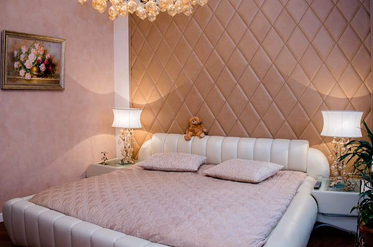 спальня:  в современный. Автор – Архитектурно-дизайнерское бюро Натальи Медведевой 'APRIORI design', Модерн