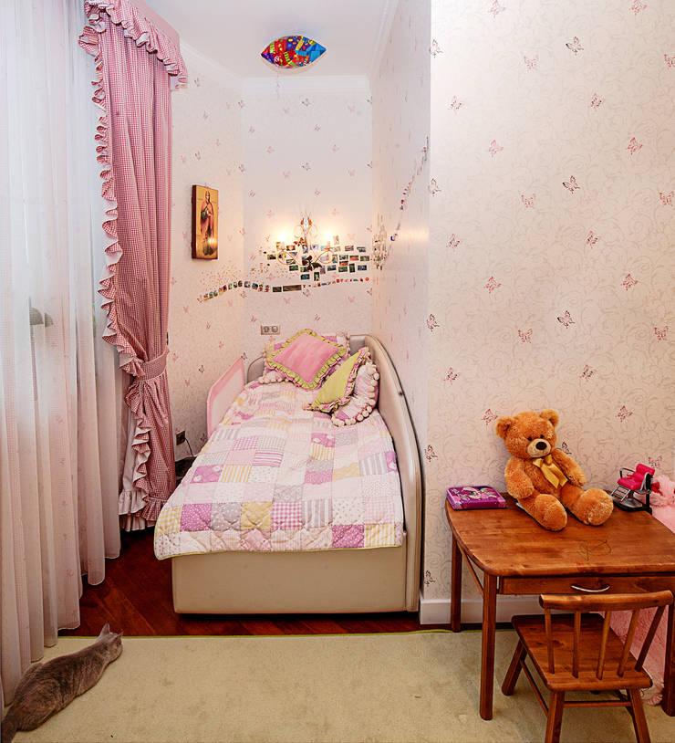 детская девочки:  в современный. Автор – Архитектурно-дизайнерское бюро Натальи Медведевой 'APRIORI design', Модерн